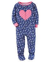 Человечек хлопковый для девочки Carters сердечко, Размер 24м, Размер 24м