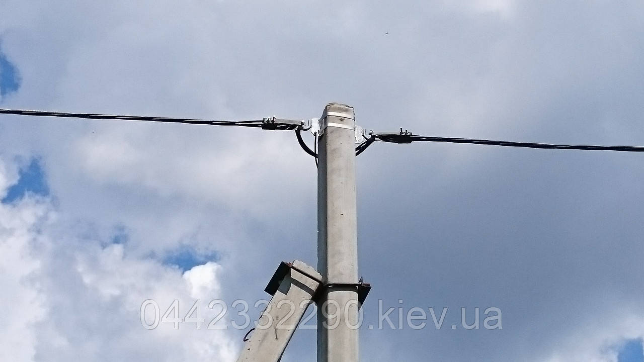 Установка столбов освещения, опор линий электропередач
