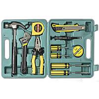 ✓Универсальный набор инструментов Lesko YL-8012 отвертка рулетка молоток плоскогубцы набор 12 в 1