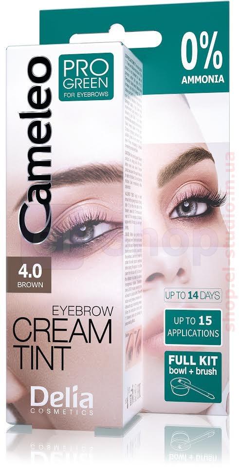 Крем-краска для бровей CAMELEO - PRO-GREEN 4.0 (коричневая) 15 мл - Интернет-магазин el Shop в Киеве