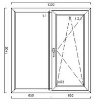 Вікно VEKA 1300*1400