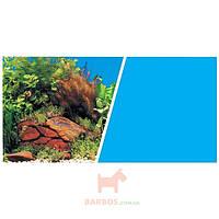 Фон двойной для аквариума 45 см х 7,5 м, растения с камнями/голубой фон (Хаген) Hagen