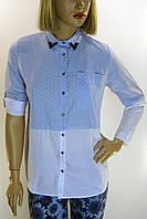 Жіноча джинсова сорочка з стразами  Saloon