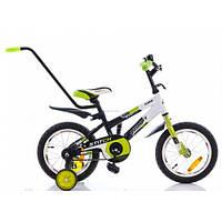 Азимут Стич 14 с родительской ручкой велосипед двухколёсный Azimut Stitch BI