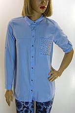 Рубашка женская со стразами , фото 2