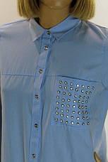 Рубашка женская со стразами , фото 3