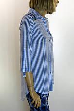 Рубашка женская в полоску , фото 2