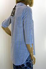 Рубашка женская в полоску , фото 3