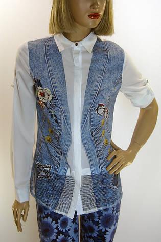 Жіноча блузка з принтом і вишивкою Movda, фото 2