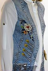 Жіноча блузка з принтом і вишивкою Movda, фото 3