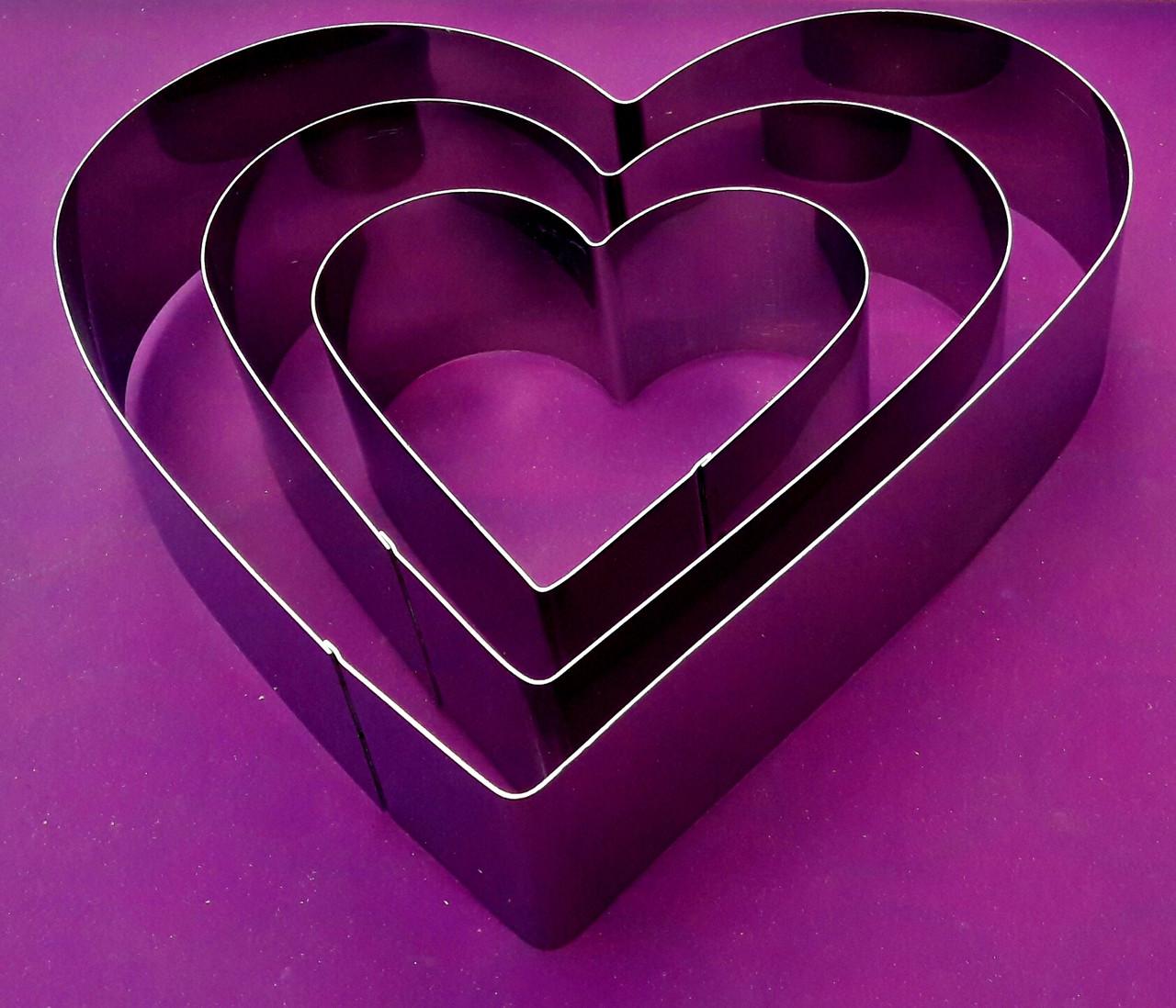 """Комплект форм для випічки """"Серце"""""""