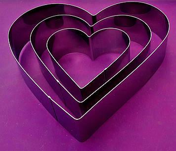 """Комплект форм для выпечки """"Сердце"""""""