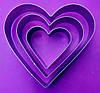 """Комплект форм для випічки """"Серце"""", фото 2"""