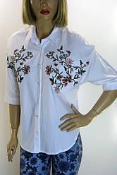 Жіноча сорочка-блузка з вишивкою