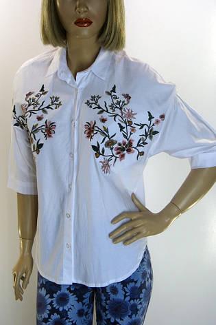 Жіноча сорочка-блузка з вишивкою, фото 2
