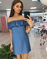 Женское платье ткань  : легкий джинс  РК114