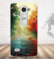 Силиконовый бампер чехол с рисунком для LG Leon h340n h326