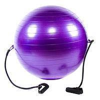 Мяч фитнес D65см (Anti-burst) с эспандером IronMaster