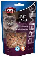 42705 Trixie Premio Ducky Hearts лакомство с уткой и лососем, 50 гр