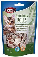 42702 Trixie Premio Fish Chicken Rolls ролы с курицей и рыбой, 50 гр