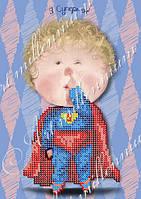"""Схема для вышивки бисером W-495 """"Я Супермен"""""""