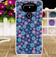 Силиконовый бампер чехол с рисунком для LG G5 SE h845