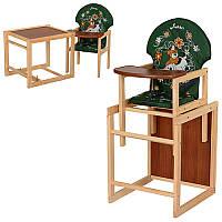 Стульчик-трансформер деревянный для кормления М V-010-22-6 Vivast