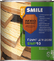 SWP-10-0.75л Грунт для дерева антисептирующий «SMILE WOOD PROTECT»
