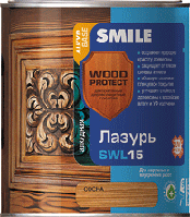 SWL-15-0.75л Лазурь «SMILE WOOD PROTECT»