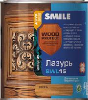 SWL-15-0.75л Лазурь «SMILE WOOD PROTECT»