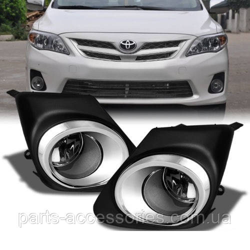 Toyota Corolla 2011-13 противотуманки противотуманные фары решетки в бампер Новые