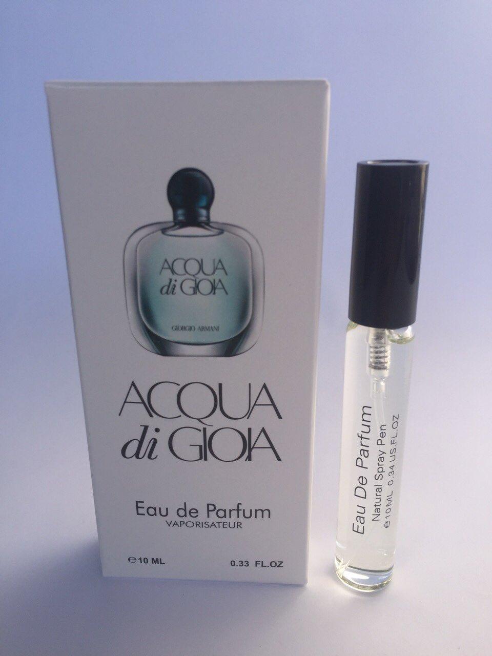 Женский мини парфюм с феромонами Giorgio Armani Acqua di Gioia (Джорджио Армани Аква ди Джио) 10 мл
