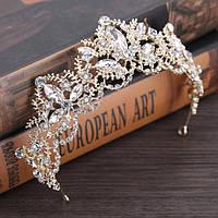 Свадебная диадема корона ДАНИЭЛЬ Тиара Виктория украшения для волос