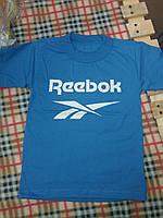 Детская спортивная футболка Рибок материал кулир, от 1 года до 7 лет. Цвет синий
