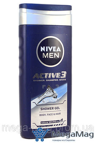 Гель для душа NIVEA for Men Active 3 250мл, фото 2