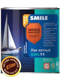 SWL-11-0,75л Лак яхтный «SMILE WOOD PROTECT» алкидно-уретановый глянцевый в цвете
