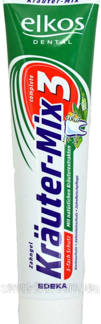 """Зубная паста Elkos Krauter-Mix-3 ( с лечебными травами) Германия 125г - Интернет-магазин """"Смак 24"""" в Днепре"""