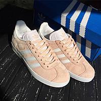 Женские кроссовки Adidas Gazelle Pink , Копия