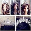 Тиара диадема и серьги АРВЕН набор украшений Тиара Виктория свадебная бижутерия аксессуары для волос, фото 4