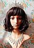Тиара диадема и серьги АРВЕН набор украшений Тиара Виктория свадебная бижутерия аксессуары для волос, фото 5