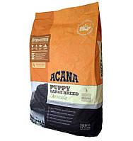Acana PUPPY LARGE BREED - корм для щенков крупных пород Heritage Formula 70/30/0  17кг.