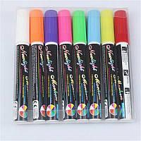 Маркеры для LED досок, набор маркеров для LED досок 8 цветов, флуоресцентные маркеры