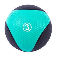 Медбол IronMaster 3kg, D22cm, голуб/черн