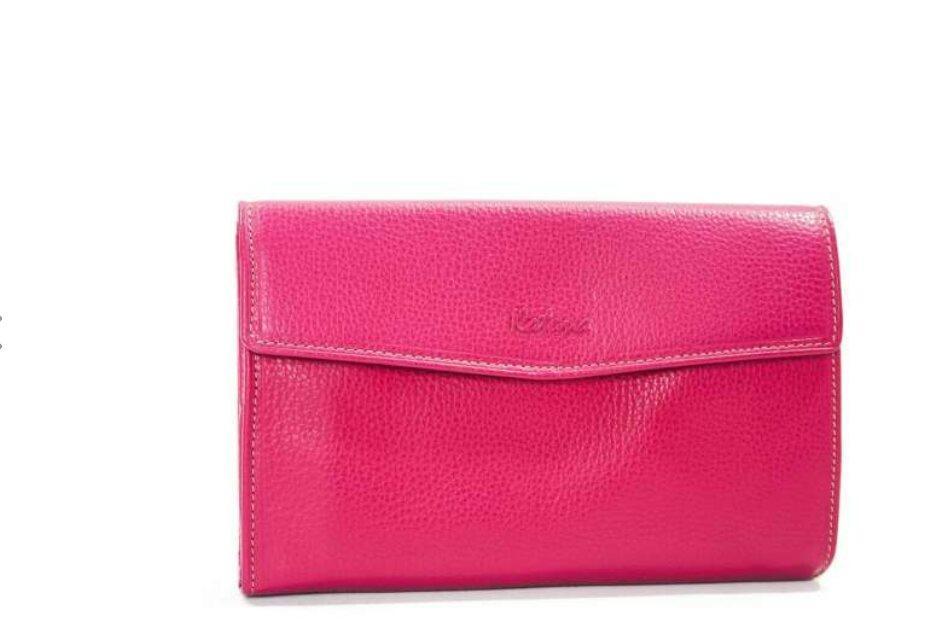 Кошелек женский кожаный розовый катана 953115.