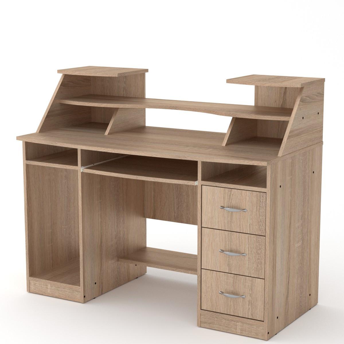 Стол компьютерный Комфорт-5 дуб сонома Компанит (127х65х104 см)