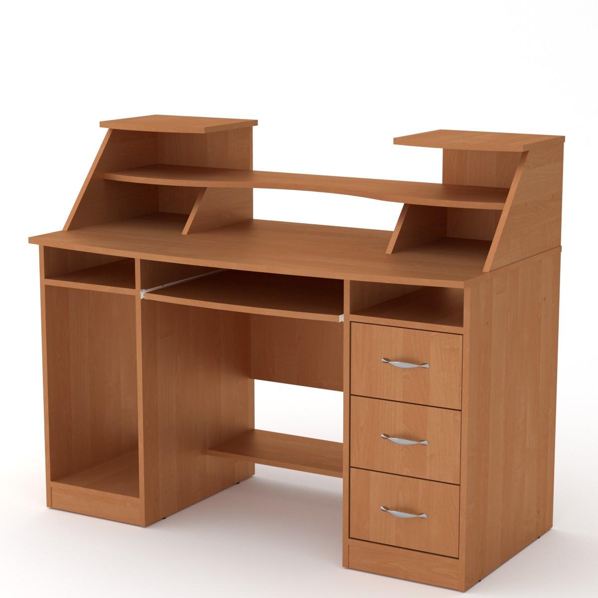 Стол компьютерный Комфорт-5 ольха Компанит (127х65х104 см)