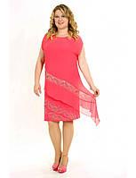 КОКТЕЙЛЬНОЕ ПЛАТЬЕ ИЗ ШИФОНА СО СТРАЗАМИ. Платье  батал. Разные цвета и размеры. Розница, опт в Украине.