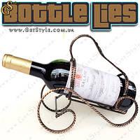 "Винтажная подставка для вина - ""Bottle Lies"""