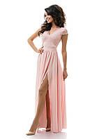 Платье вечернее спина гипюр, с разрезом в пол 42,44,46
