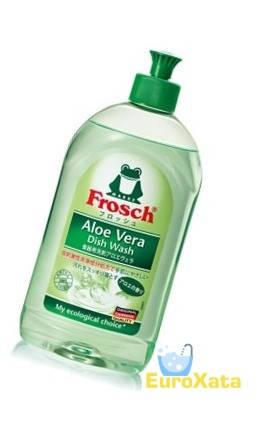Органическая жидкость для мытья посуды Frosch Hand-Geschirrspülmittel Aloe Vera